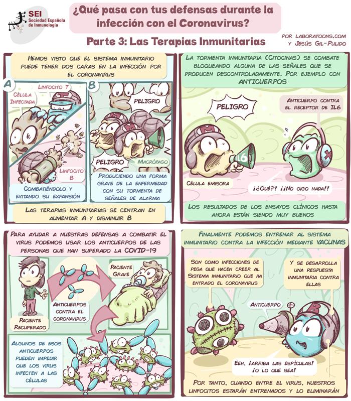 Cómic coronavirus defensas Parte 3